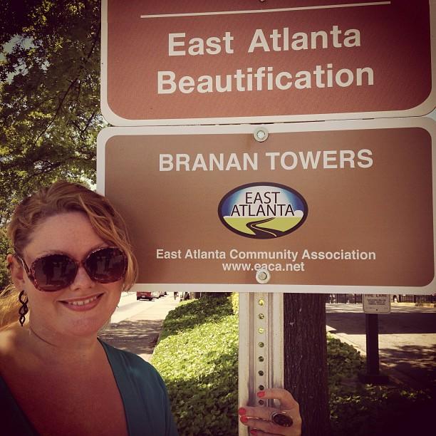 Adopt-a-Street Atlanta Street Sign
