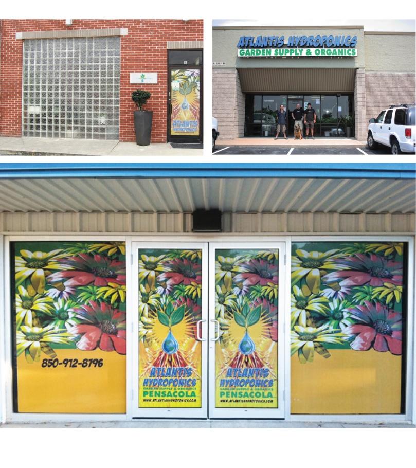 Atlantis Hydroponics Store Signage