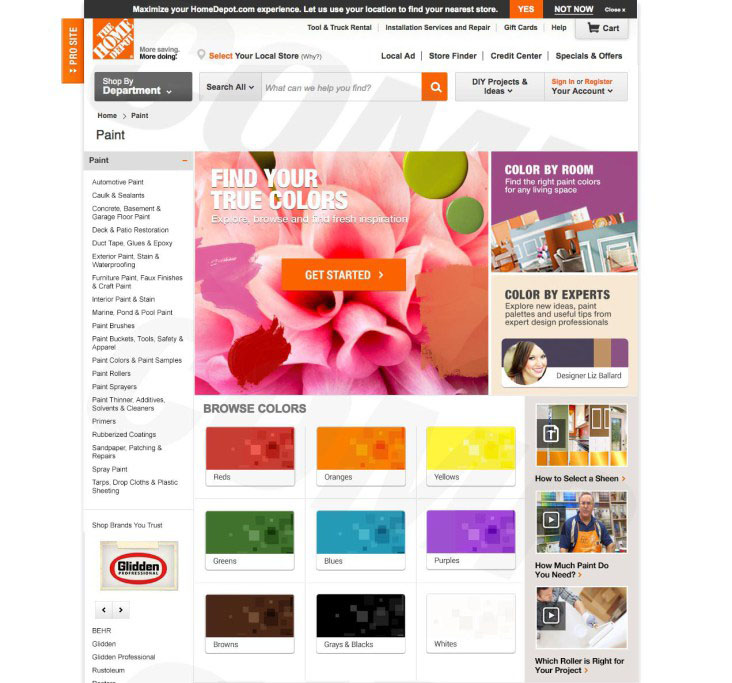 Homedepot.com Paint